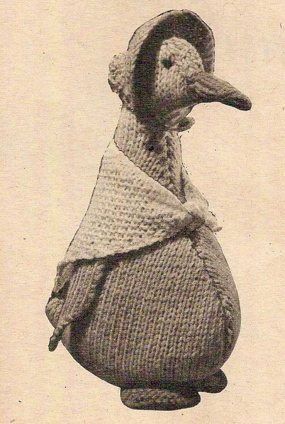Rabbit Sweater Knitting Pattern : Jemima duck vintage knitting pattern beatrix