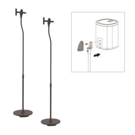 Pyle Universal Speaker Stands, Standing Speaker Mount Holders, Height Adjustable - Works with Sonos Play 1, Play 3, Multicolor