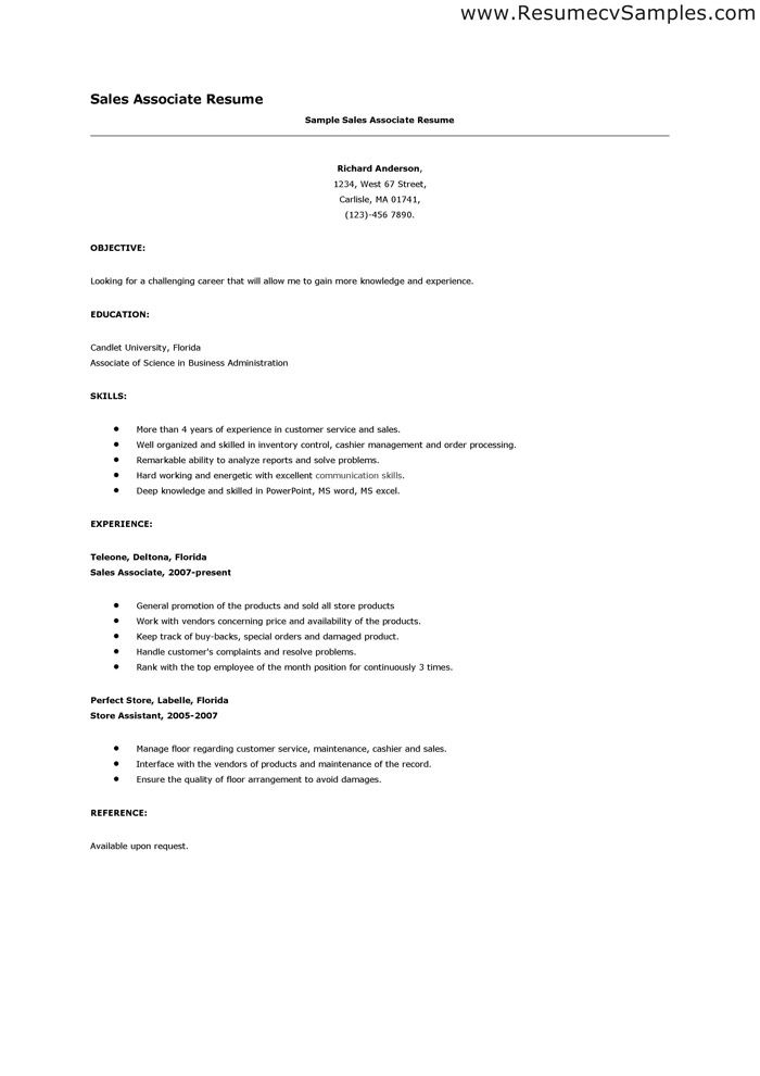 11 best UX Resumes images on Pinterest Resume, Curriculum and Ux - example of sales associate resume