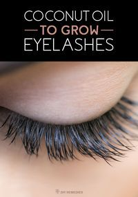 Coconut Oil to Grow Eyelashes - DIY Natural Home Remedies    Perfect length of eyelashes will help to control the airflow and the rate of evaporation on the surface of cornea which in turn helps to keep the eyes moist for a longer time and keep the dust particles away. So, it has been proved that longer eyelashes are not only for beauty conscious but also related to health.
