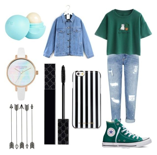 """""""Untitled #30"""" by adine233 on Polyvore featuring Miss Selfridge, Chicnova Fashion, Converse, Quintess, MICHAEL Michael Kors, Gucci and River Island"""