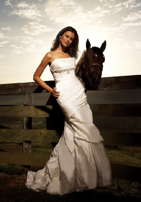 Your farm! (No this is not me, my horse, or my farm, but any place can be your venue with a little help!) P.S. Is it wrong that I was drawn to the horse not the dress?