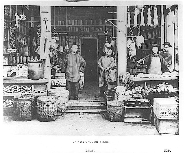 """Chinese Exclusion Act. In the 1880s, Chinese workers were brought to build the railway and work on low wages in dangerous conditions and do jobs that are very difficult to do. Chinese people could not even live in the same areas as the white people so that is how China town was created.'If you have no franchise then really you have no say' (Chinese Immigration, 1997)"" The beginning of China Town, this is an early example of Chinese starting businesses and building Chinese community aboard."