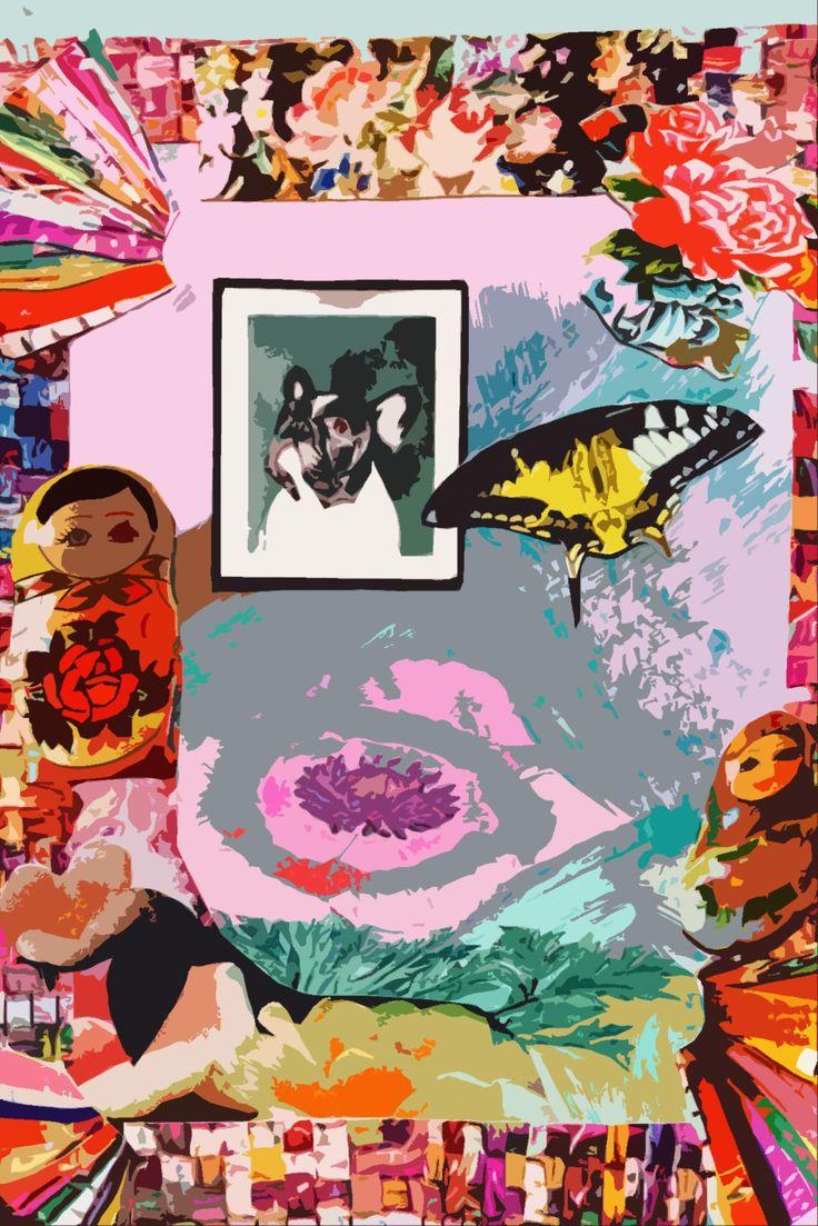 Anneli Kent Screenprint/Collage