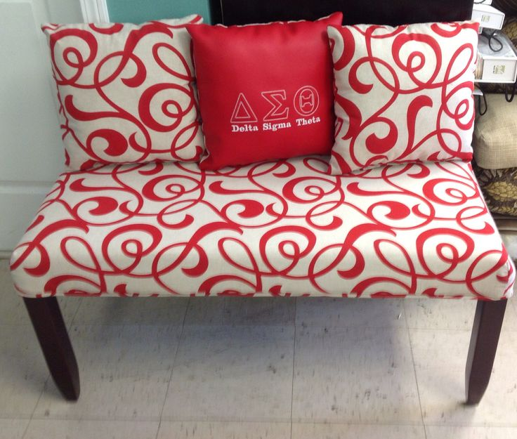 Delta Sigma Theta Upholstered Bench
