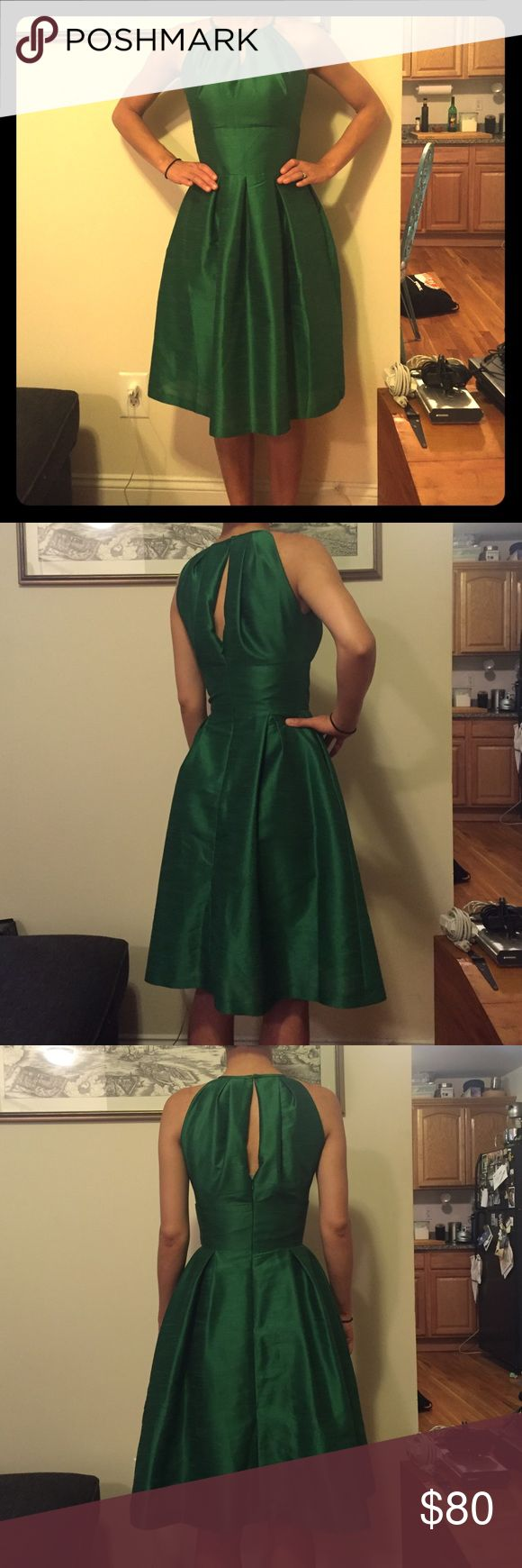 """Fit and Flare Bridesmaid Dress Bridesmaid dress, like new!! Worn once. Material is """"silk dupioni."""" Bust: 35, Waist: 27, Hip: 38 Alfred Sung Dresses"""