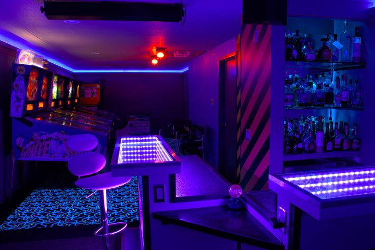 Sci Fi Themed Arcade Game Room Bar And Theater By