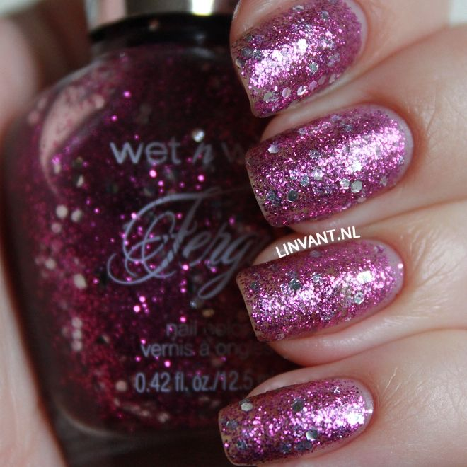 Fergie Wet N Wild - Take The Stage, swatched on nail wheel $3.