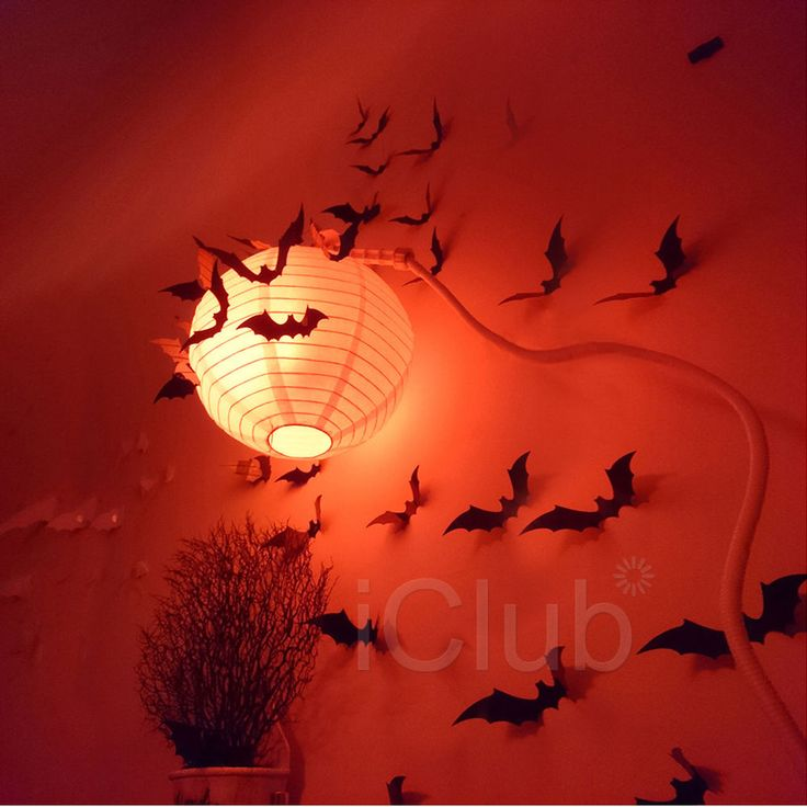 12pcs 3D stereoscopic bat Halloween Wall Sticker Decal removable Home Decor UK in Home, Furniture & DIY, Celebrations & Occasions, Party Supplies | eBay