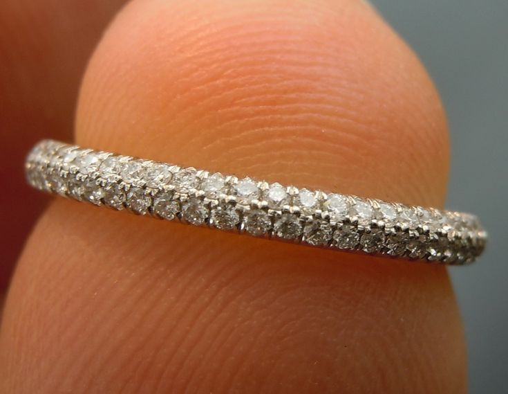 I Like Trio Micropave On A Super Thin Band That Comes To Point In The Pave Wedding Bandsdiamond