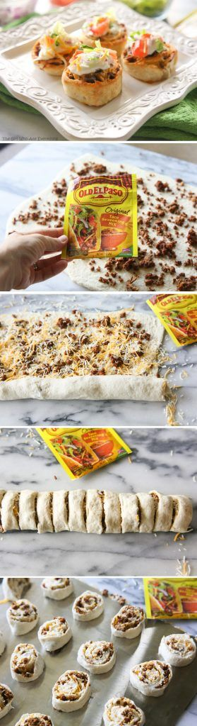 Old el paso is known for quick sauce for the tacos in which you just need to add meat, lettuce, tomato, cheese. Put sauce on the tortilla, wrap it, and bake in the oven.