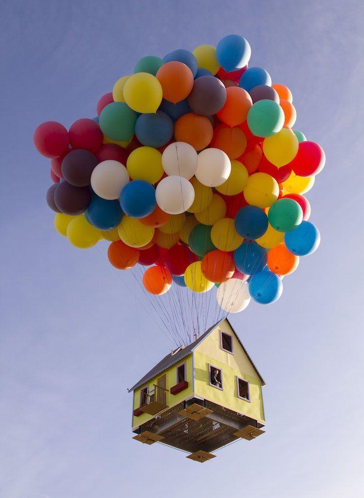 Casa que simula ser la casa de la película Up