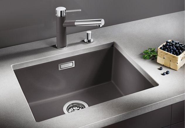 Lavello a una vasca da incasso in Silgranit® BLANCO SUBLINE 500-U - Blanco