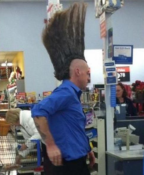 Mohawk At Walmart - Funny Pictures at Walmart