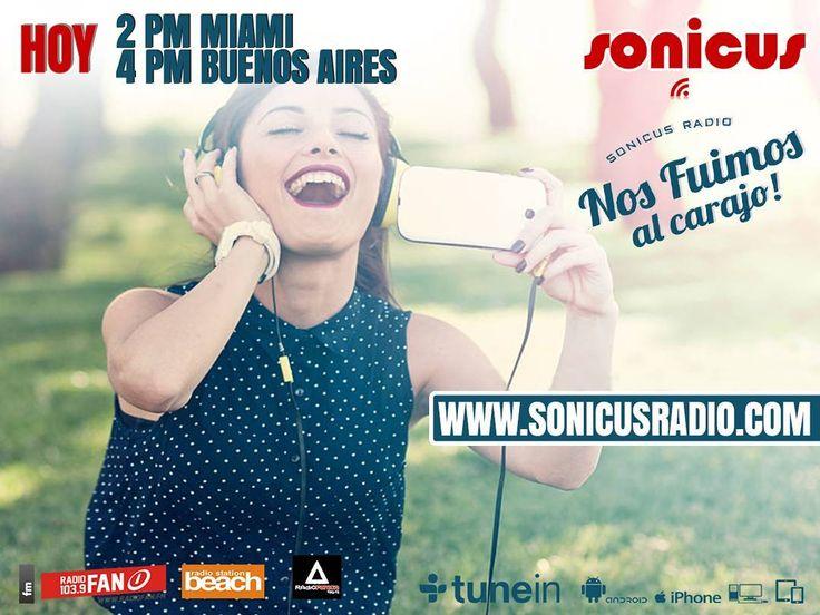 Comienza la semana en la Radio!! En vivo!! www.sonicusradio.com #radio #online #music #musica #pop #hits #top  #followme #miami #latinos #hot #party #trendy #artistas #ranking #chart #show  #fashiongram #musicislife #ilovemusic #losangeles #newyork #celebrity  #dominicana #argentina  #tunein #monday