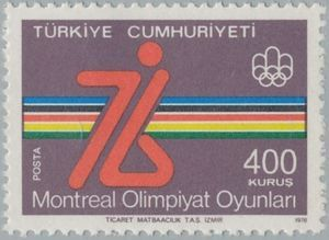 Stamp: Montreal (Turkey) (Olympic games Montreal 3v) Mi:TR 2399