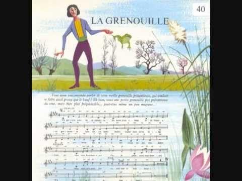 """(1954) (French Frog Song) La grenouille (Extrait de """"Francis Lemarque chante pour les enfants"""")."""