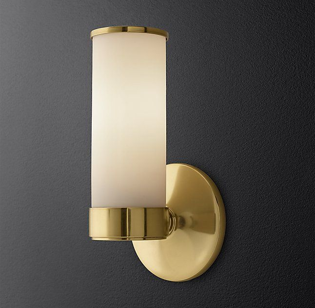 RH Modern's Sutton Single Sconce:Sutton brings a quality hotel aesthetic to your bath.