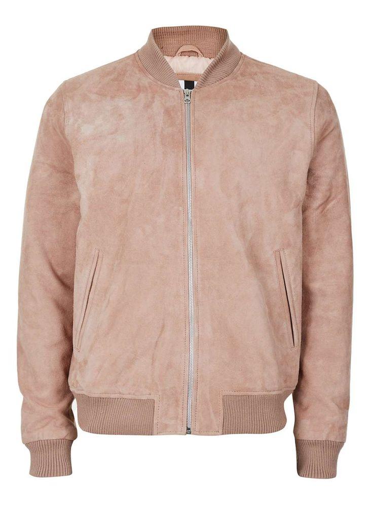 Pink Suede Bomber Jacket*