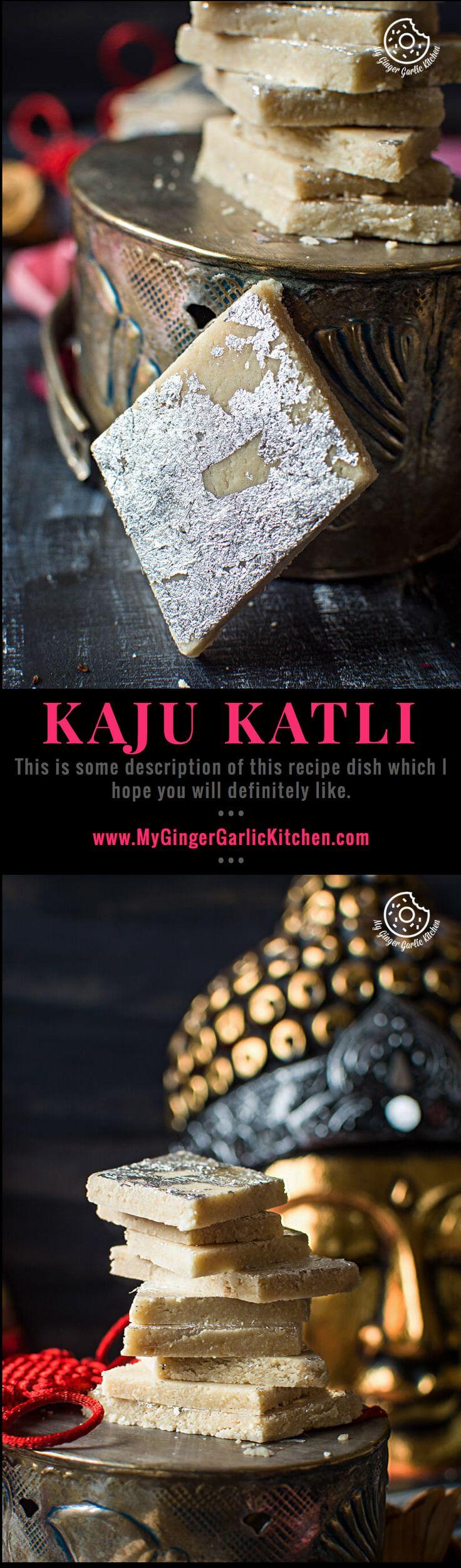 Kaju Katli | Kaju Burfi | mygingergarlickitchen.com/ @anupama_dreams