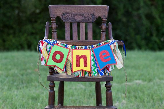 Sesame Street, Elmo, Rainbow, Lego, Crayola Inspired High Chair Banner Cake Smash Set - FULLY CUSTOMIZABLE