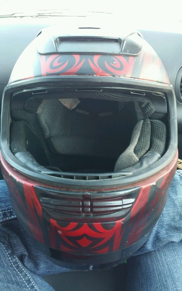 FULMER HELMET APACHE D4 XXL BLACK/RED in Collectibles, Transportation, Motorcycles | eBay