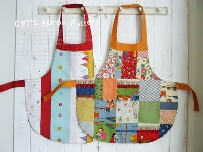 Scattered Thoughts of a Crafty Mom: Easy Child's Apron Pattern and