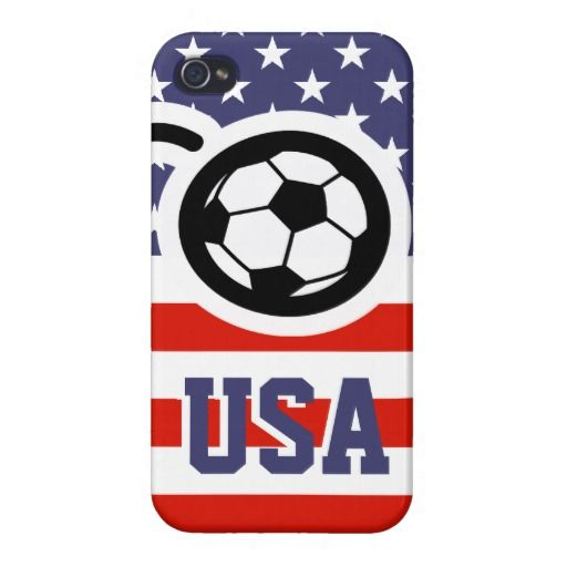 US Soccer iPhone cover for patriotic fans iPhone 4/4S Cases