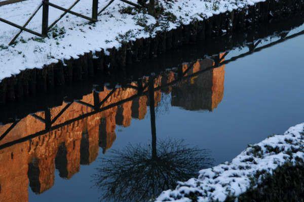 Tramonto invernale sulle Mura Medioevali di Cittadella