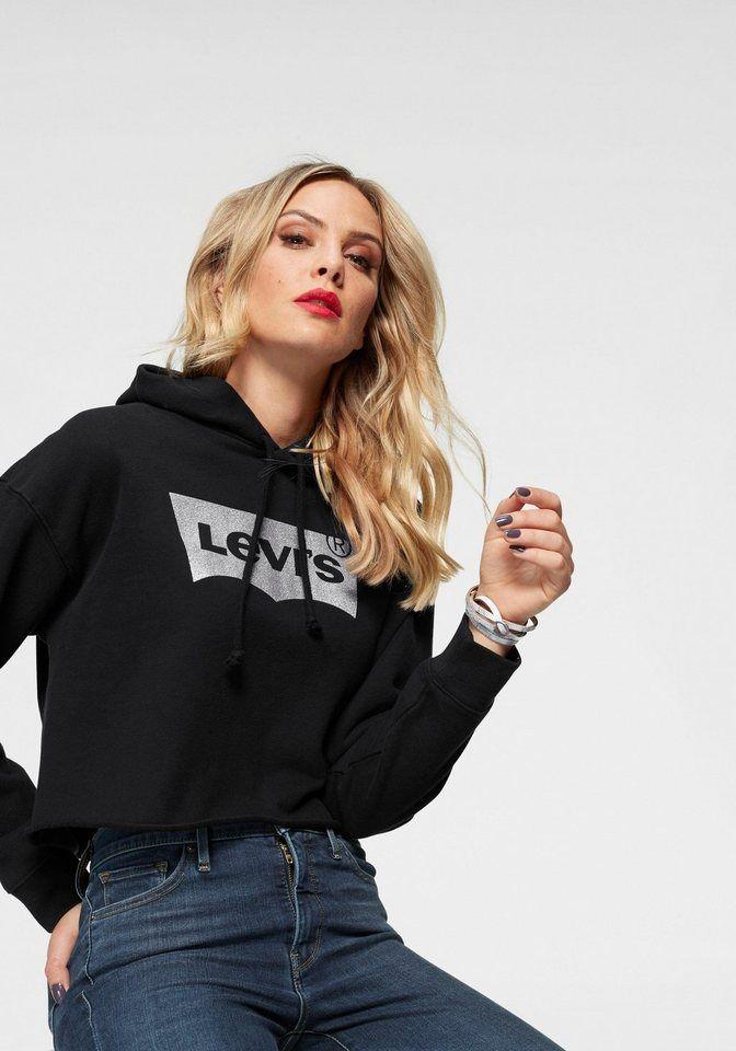 Levi's® Kapuzensweatshirt »Batwing« Logoprint, Aus reiner