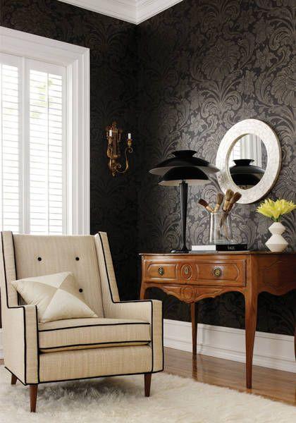 Black Velvet Wallpaper I Don T Know Where When Or How But I Black Wallpaperdamask Wallpaperwallpaper Designsinterior