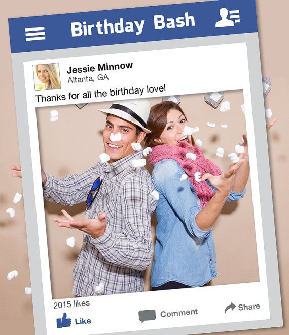 Facebook Frame DYI / Photo Booth Prop / Graduation, Prom, Birthday Party, Wedding / Teen And Adult / Social Media / Trending ▷ Printable PDF