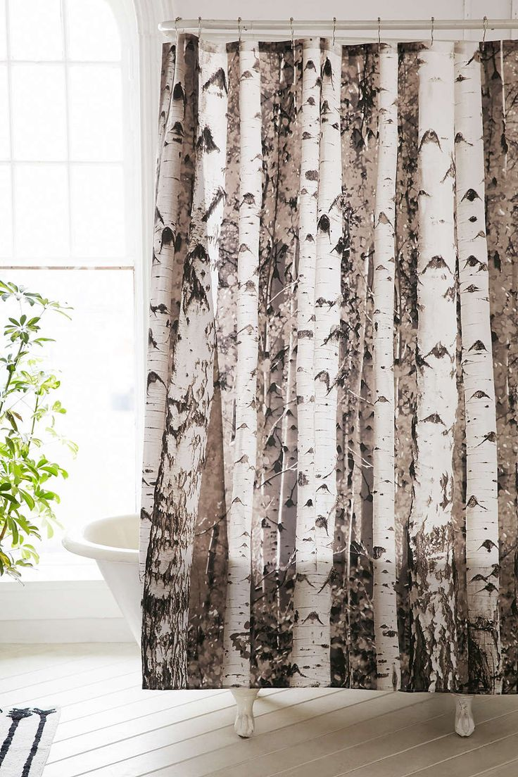 Urban Outfitters birch tree shower curtain--really wanna buy so I can make it wall art!