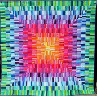Quilt by Marzena Krzewicka | STRIP QUILTS | Pinterest