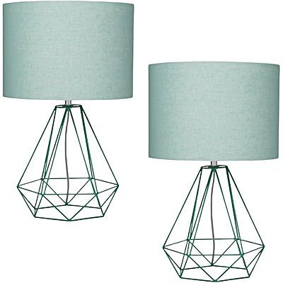 Empire Mint Table Lamp (Set of 2)