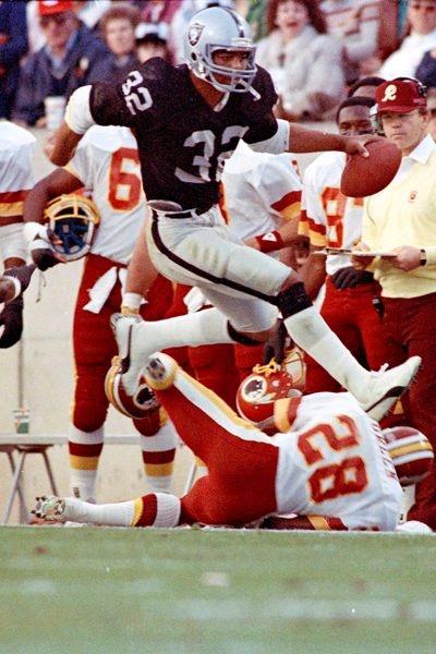 Marcus Allen and Darrell Green - Washington Redskins