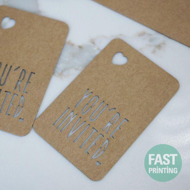 Laser Cutting Finish  Craft #FPcards #fastprinting