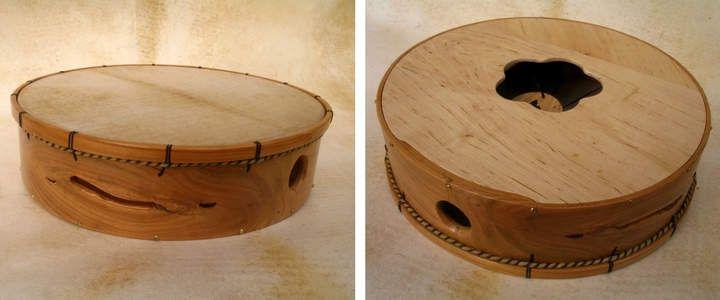Experimentando cos instrumentos de percusión tradicional-aceptación