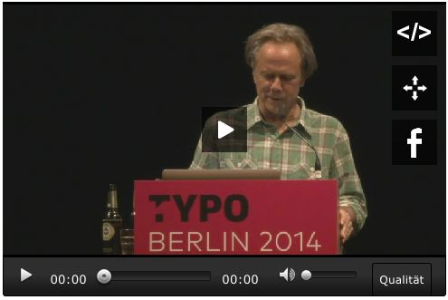 David Carson at TYPO Berlin »Roots« 2014. #typo14