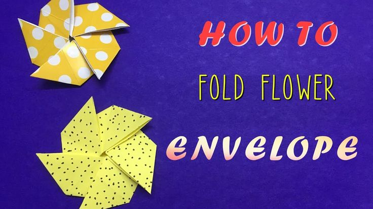 How to fold a Flower Envelope - Easy origami tutorial