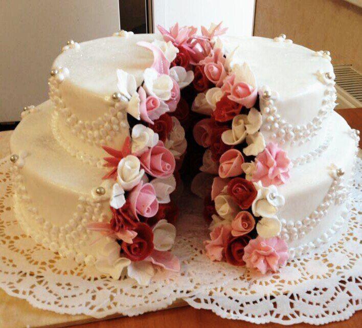Свадебный торт от нашего кондитера! Совет вам да любовь!