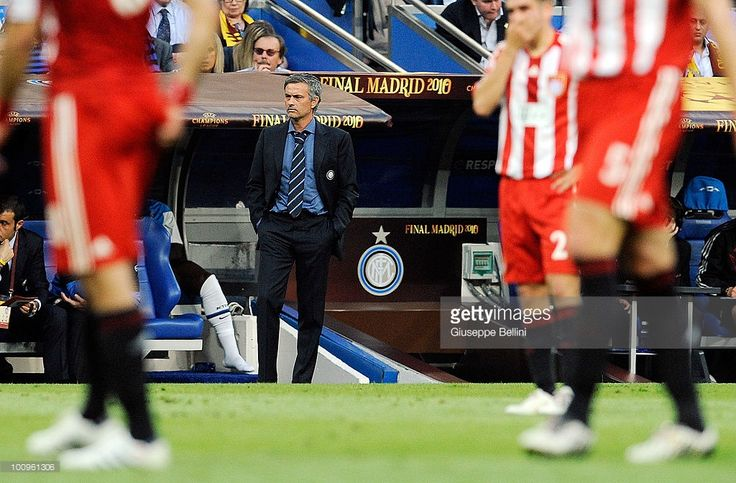 Jose Mourinho head coach of Inter Milan during the UEFA Champions League Final match between FC Bayern Muenchen and Inter Milan at Bernabeu on May 22, 2010 in Madrid, Spain.