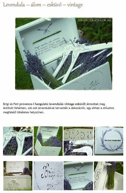 Levendula - vintage - álom - esküvő. Nézd meg, katt az alábbi linkre >> http://eskuvo.eradekor.hu/levendula-alom-eskuvo-vintage/