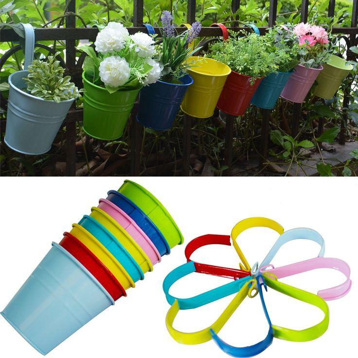 Pots de Fleurs, RIOGOO Pot de fleur Suspendus,Pots de Jardin Balcon ...