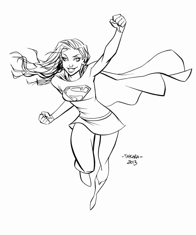 Supergirl Coloring Pages Di 2020