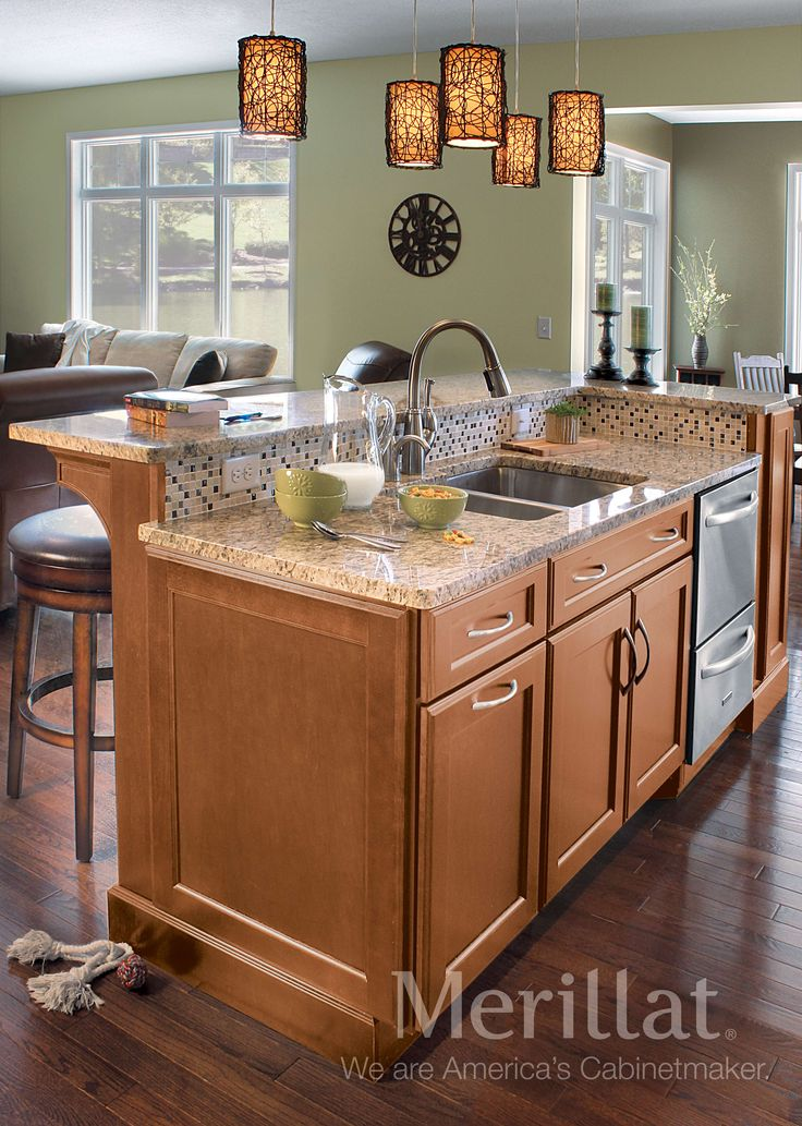 Merillat classic ralston maple hazelnut with java glaze for Merillat white kitchen cabinets