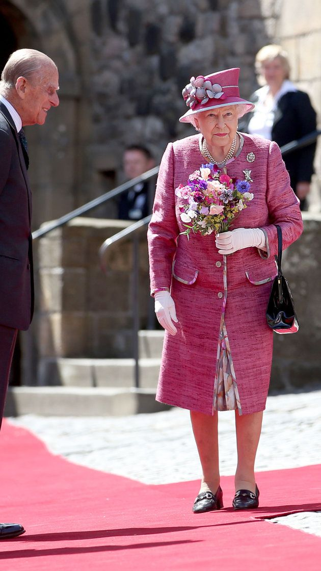 Queen scolds pushy greeter, tells him to 'go away' (With