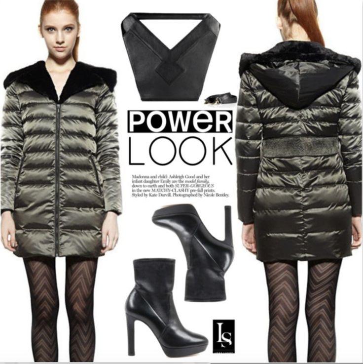 Get ready for winter with a nice coat ;) #wintercoat #fashionbag #blackboots #urban   Shop This Look: https://goo.gl/hTCzAM