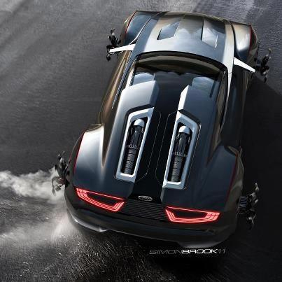 Ford Mad Max Concept Car black