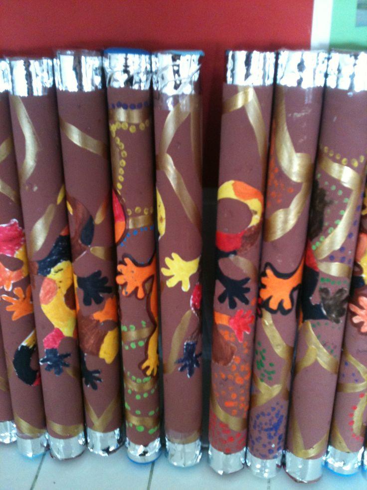 Bâtons de pluie style aborigène : Australie